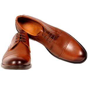 Men's Shoes Classic Classic Patterned Leather Lace-up 19129 Red