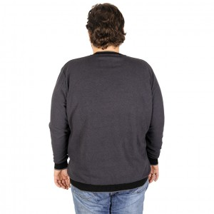 Men s Sweatshirt Crew Neck Classic 19142 Black