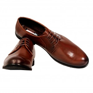 Men's Classic Laced Leather Shoes 19384 Black