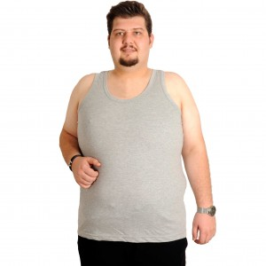 Big-Tall Men s Undershirt Gray 6346 (3XL-7XL)