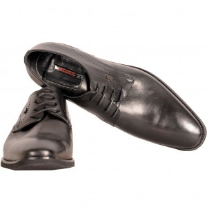 Big-Tall Shoes Lace Up Leather 182013 Black
