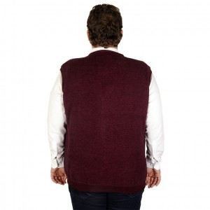 Big-Tall Men s Buttoned Vest 19521 Claret Red