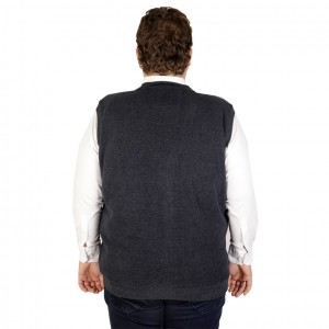 Big-Tall Men s buttoned Vest 19521 Navy Blue