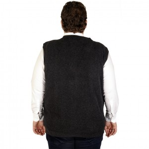 Big-Tall Men s buttoned vest 19521 Black