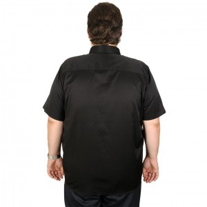 Lycra Pocket Shirt Short Sleeve Satin 19395 Black