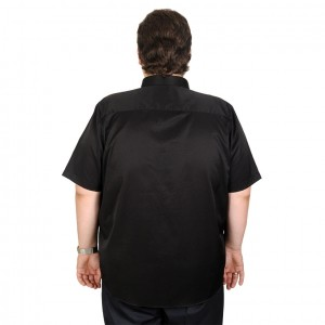Lycra Shirt Short Sleeve Satin 19394 Black