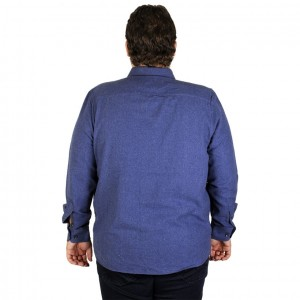 Big Size Mens Long Sleeve Shirt 19300 indigo