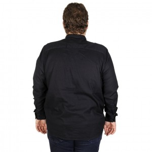 Lycra Shirt Long Sleeve Satin 19395 Black