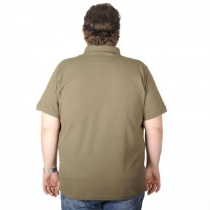 Big-Tall Men s Classic Polo T-Shirt Pocket Pique 18552 Khaki