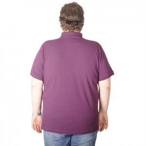 Big-Tall Men s Classic Polo T-Shirt Pocket Pique 18552 Plum