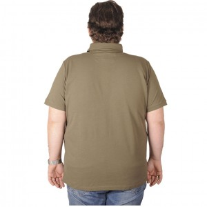 Big-Tall Men s Classic Polo T-Shirt Pique Embroidered 18553 Khaki
