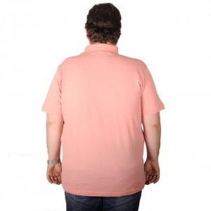 Big-Tall Men s Classic Polo T-Shirt Pique Embroidered 18553 Salmon