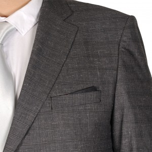 Big-Tall Men s Suit Santos Double Pockets 19013 Grey