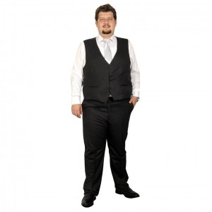 Big-Tall Men s Suit Vest Bogart 17003A Anthracite
