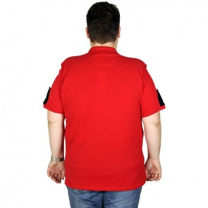 Large Size Men T-Shirt Polo All The Game 19431 Red