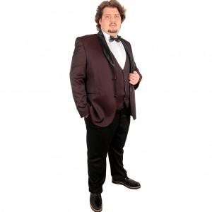 Big-Tall Men s Groom Suit Tuxedo Valentin 17004 Burgundy