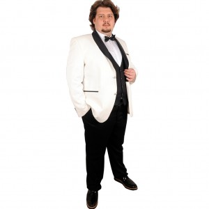 Big-Tall Men s Groom Suit Tuxedo Valentin 17004 Cream