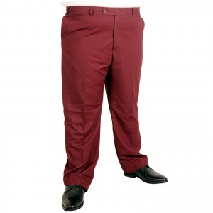 Big-Tall Men s Fabric Pants 17002 Burgundy